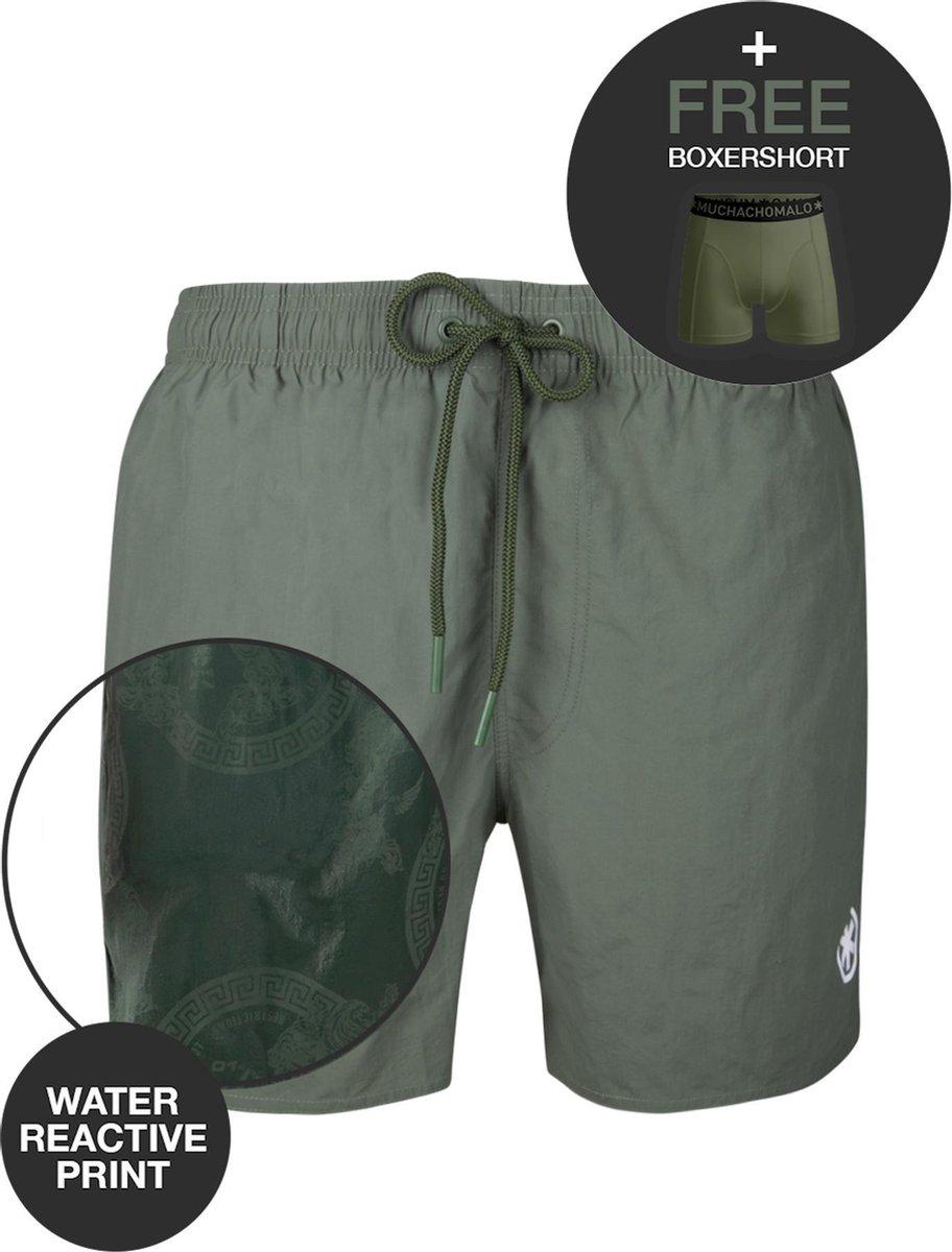 Muchachomalo water react rits zwemshort groen - 3XL