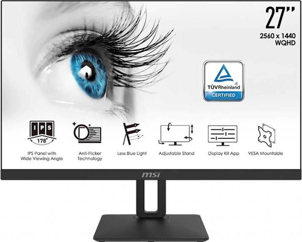 MSI Pro MP271QP – QHD IPS Monitor – 27 inch