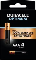 Duracell Optimum Alkaline AAA batterijen - 4 stuks
