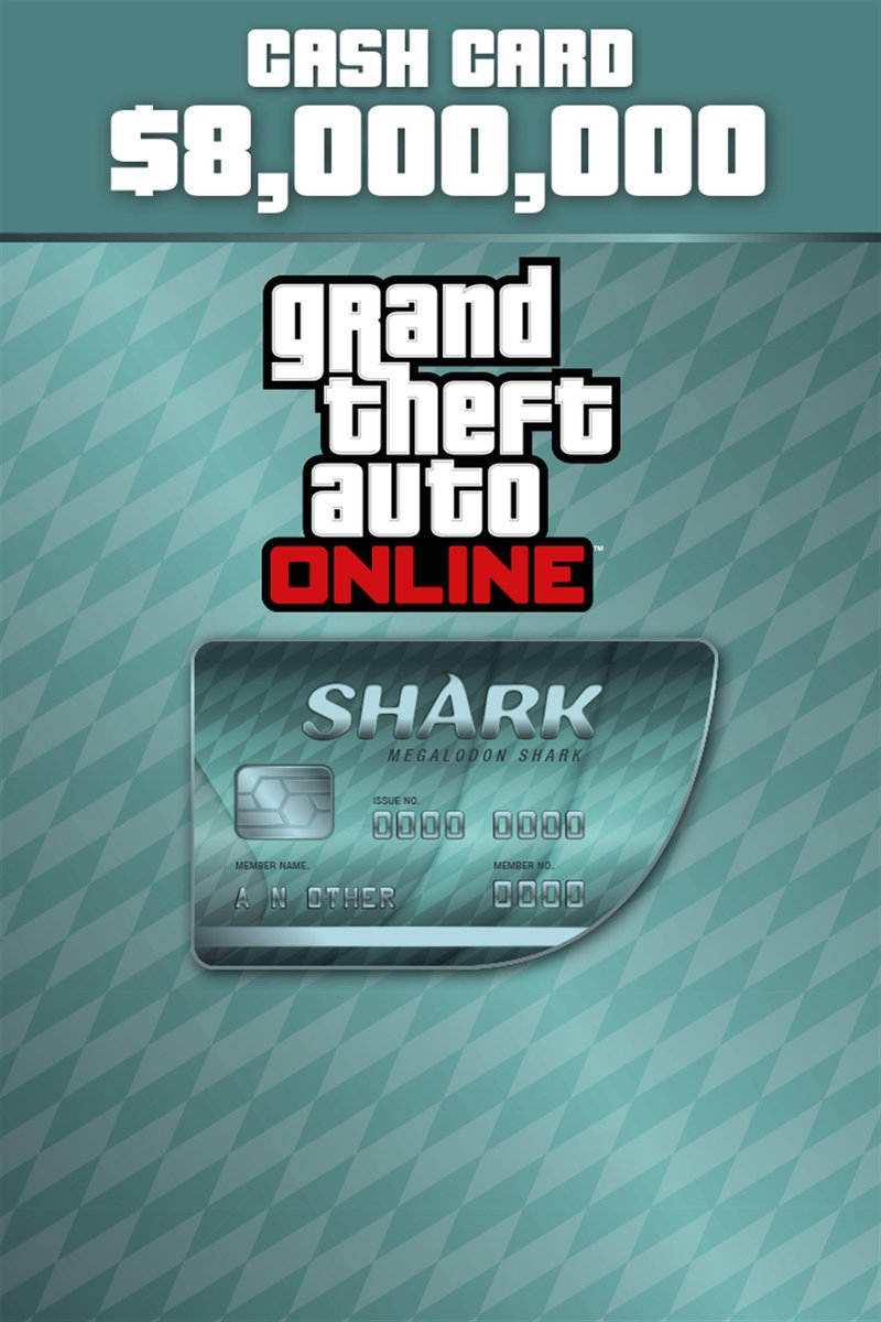 Grand Theft Auto V (GTA 5) - Megalodon Shark Card: $ 8.000.000 - Xbox One download