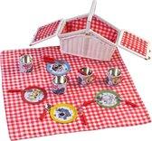 Rubo Toys Woezel en Pip Tinnen Picknickset 14-delig