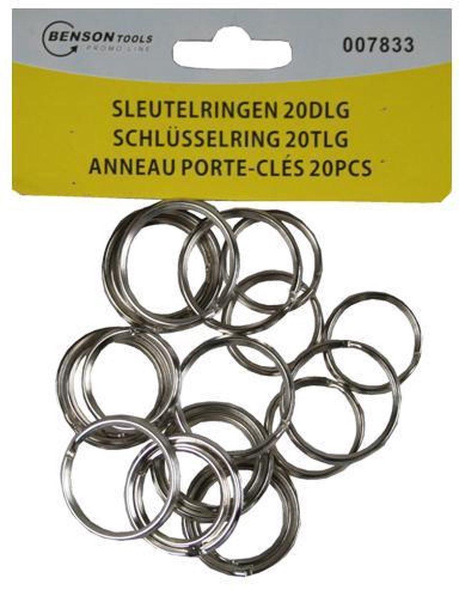 Sleutelringen - Sleutelring - 20 Stuks - 10 x 24mm - 10 x 28mm