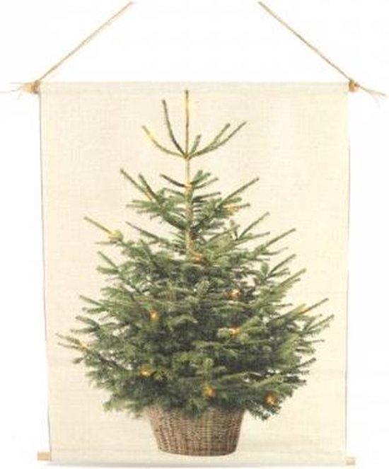 Wanddoek kerstboom 40x60cm met LED