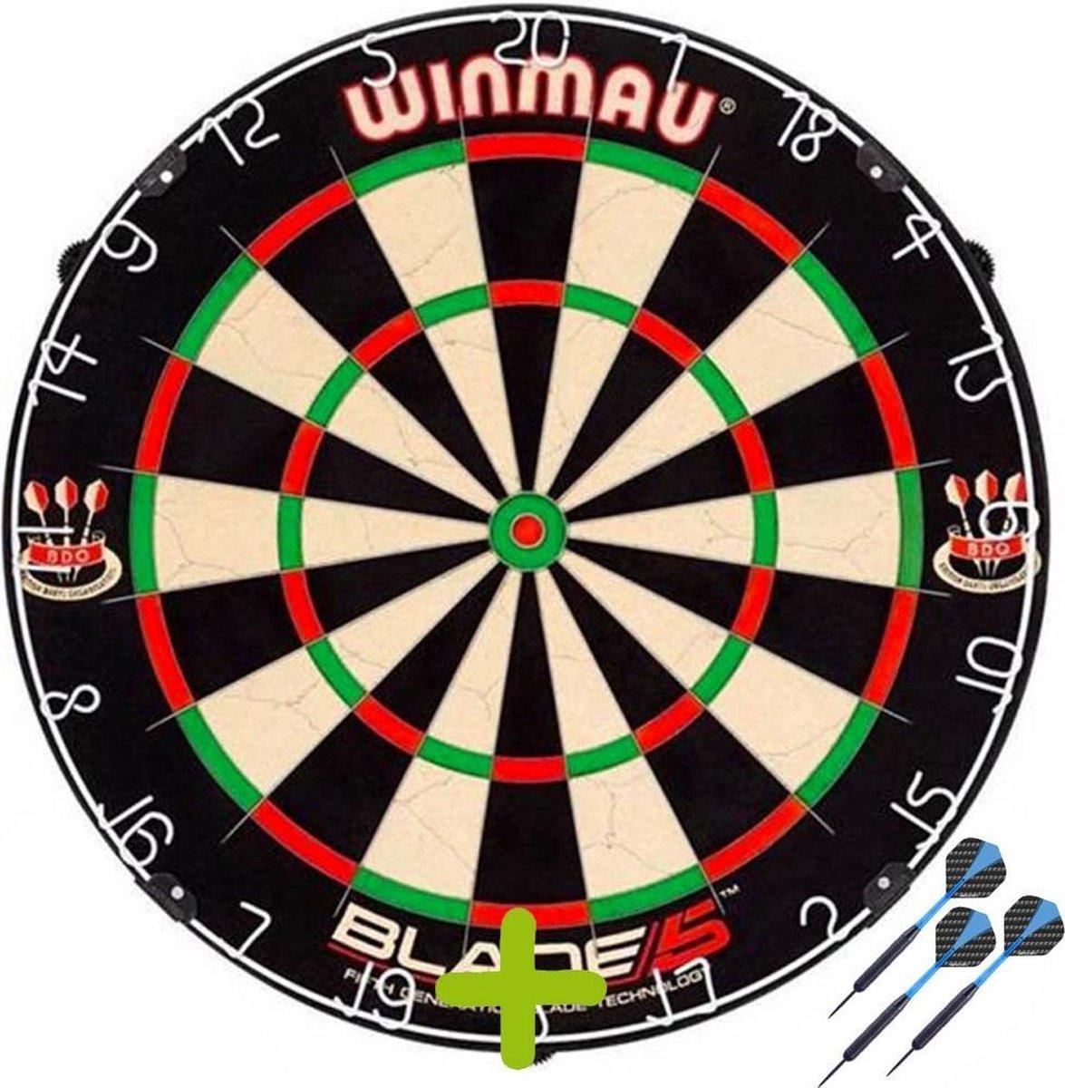 Winmau Blade 5 + 1 Set Black Brass