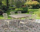 1 bronskleurige tuintafel 115x250 in gegoten aluminium - Collectie Savoy