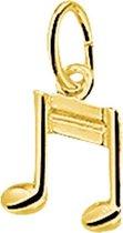 Sparkle14 Hanger Muzieknoot - Goud
