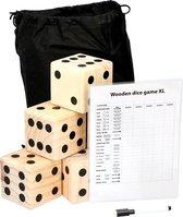 Lifetime Games giant dice game - 6 dobbelstenen  (9x9x9cm) - scorebord met stift