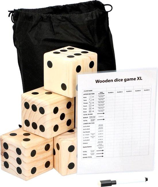 Bol Com Lifetime Games Giant Dice Game 6 Dobbelstenen 9x9x9cm Scorebord Met Stift Games