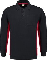 Tricorp Polosweater Bi-Color - Workwear - 302001 - Navy-Rood - maat XL