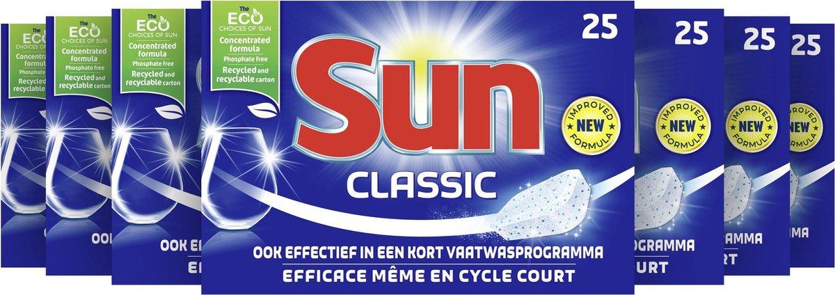 Sun Classic Vaatwastabletten - 7 x 25 tabletten - Voordeelverpakking