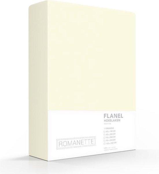 Luxe Hoeslaken Verwarmend Flanel - Ivoor