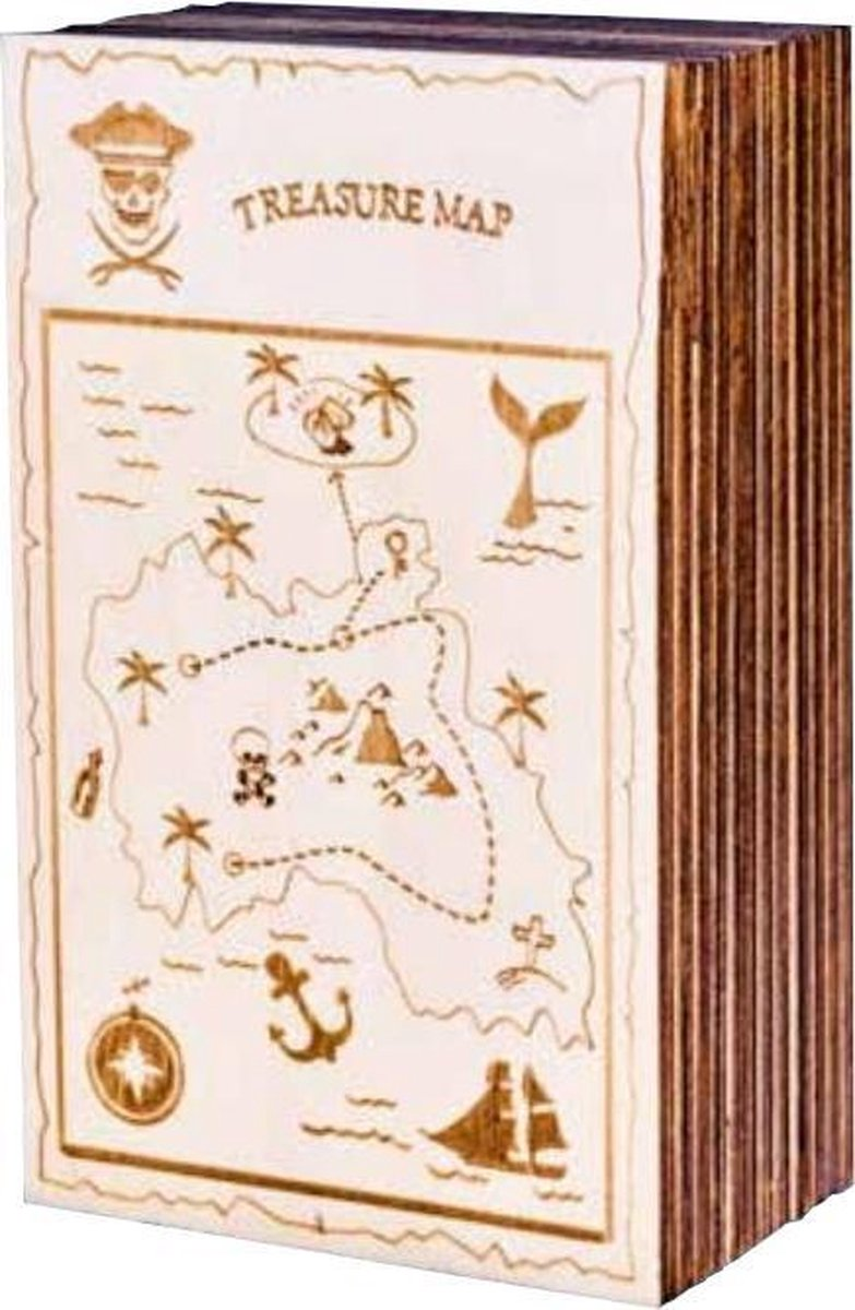 Eureka 3d Puzzle Geheimendoos Caraïben 14,5 X 7,7 X 4,8 Cm