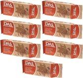 7x DAS boetseerklei terracotta 500 gram - Model/modelleer hobby klei