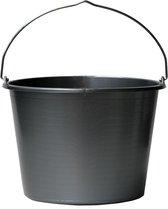 Gripline Bouwemmer 20 liter grijs kunststof  met knopbeugel