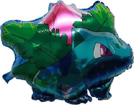 Pokemon Ballon, Bulbasaur, Kinderballon, Folieballon, Pokémon - Reuze Ballon 57 x 50 cm