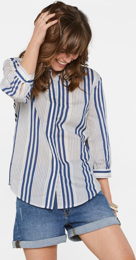 Dameskleding   WE Fashion Dames gestreepte blouse