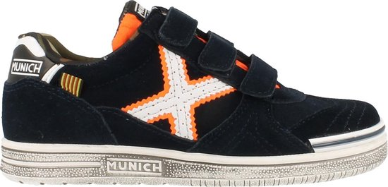 Bol Com Munich Sneaker Laag Jongens Volledig Leder Maat 31 35 Blauw 33
