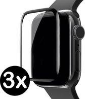 Screenprotector Voor Apple Watch 3 Full Cover 3D Glas (42 mm) - 3 PACK