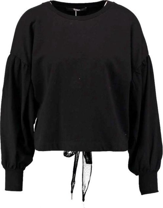 Dameskleding Truien Guess korte zwarte slim fit trui met
