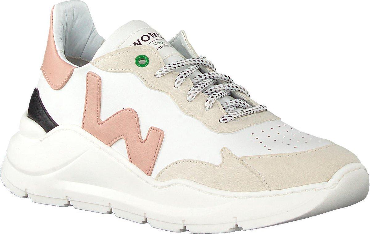 Womsh Dames Lage sneakers Vegan Wit Maat 36