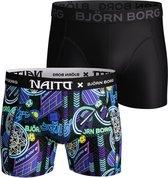 Bjorn Borg Heren 2Pack Short Naito 2021-1328/90651-L (6)