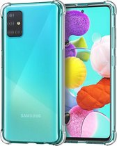 Samsung Galaxy A51 Hoesje Shock Siliconen Hoes Case Cover Transparant