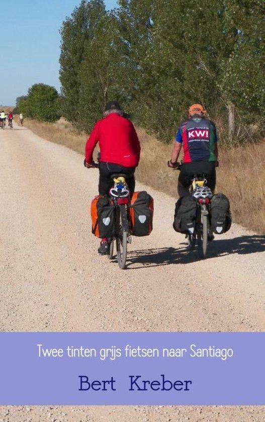 Boek cover Twee tinten grijs fietsen naar Santiago van Bert Kreber (Paperback)