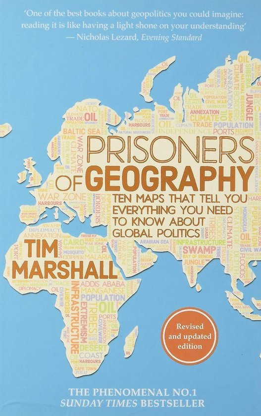 Boek cover Prisoners of Geography van Tim Marshall (Paperback)