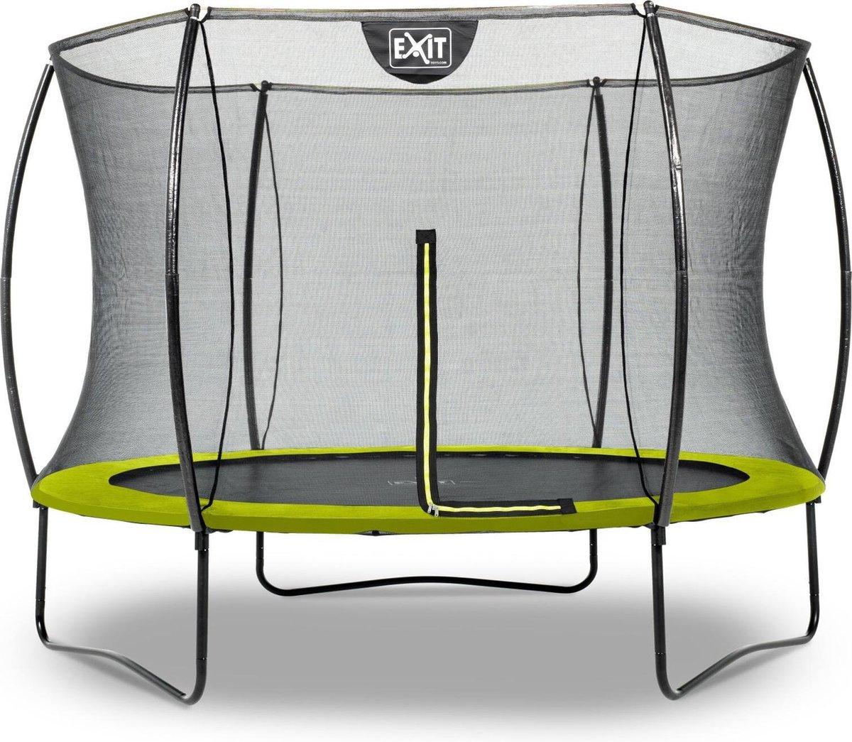 Trampoline EXIT Silhouette - ø244cm - groen