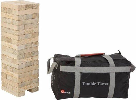 Afbeelding van het spel Stapeltoren spel, tot 90 cm hoog, ECO pijnbomenhout