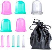 RX Goods® Anti Cellulite Vacuüm Cupping Cups – Massage Apparaat – Lichaam, Benen & Gezicht – 10 Stuks met fluwelen opbergzakjes