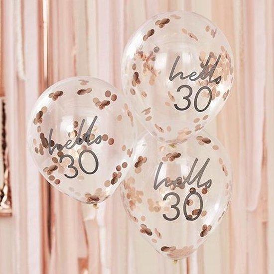 Mix It UP - Confetti Ballonnen HELLO 30 (5 stuks)