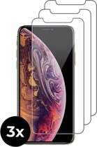 3x Tempered Glass screenprotector - iPhone X/10