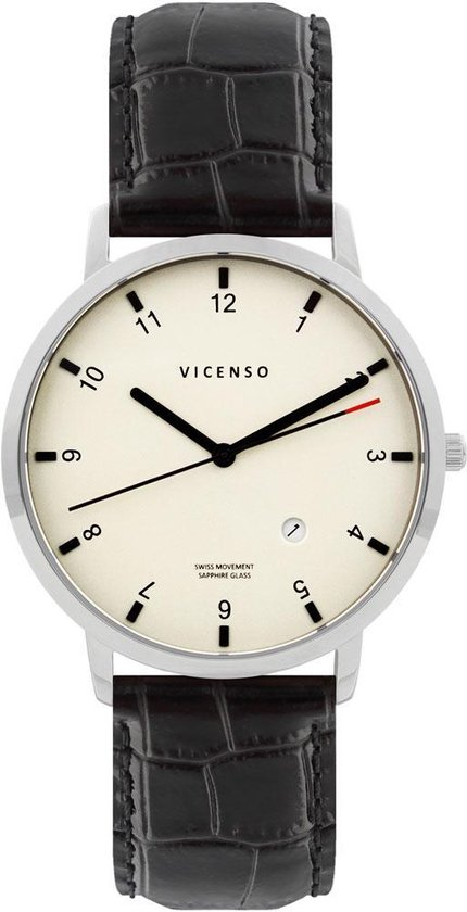 Vicenso Rome VI10015 Zilver Wit/Zwart