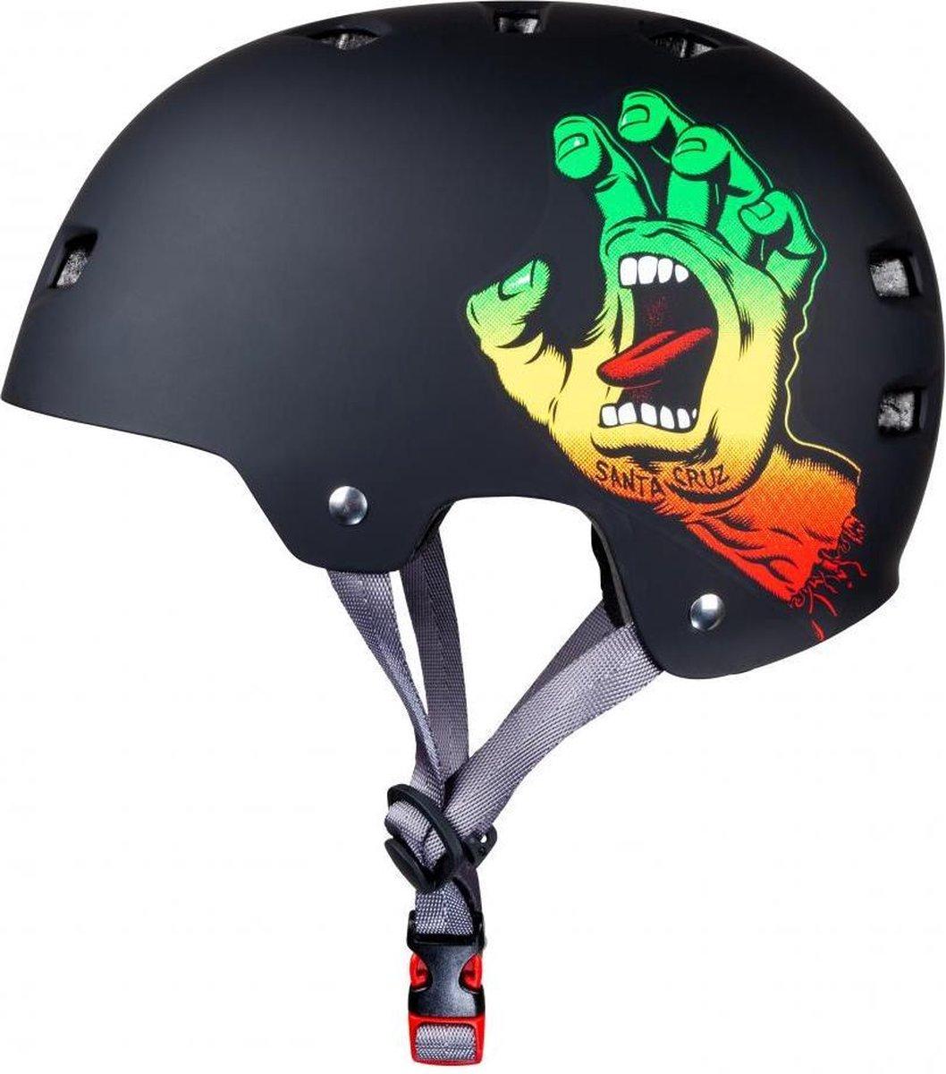 Bullet x Santa Cruz Screaming Hand skateboard helm rasta