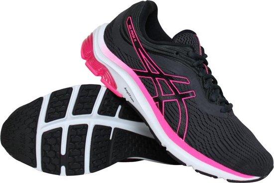 Asics Gel-Pulse 11 hardloopschoenen dames antraciet/roze