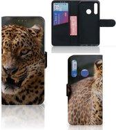 Huawei P Smart Plus (2019) Telefoonhoesje met Pasjes Luipaard