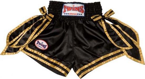 Twins TTBL050 Traditional Muay Thai Trunk Black Gold-XXL