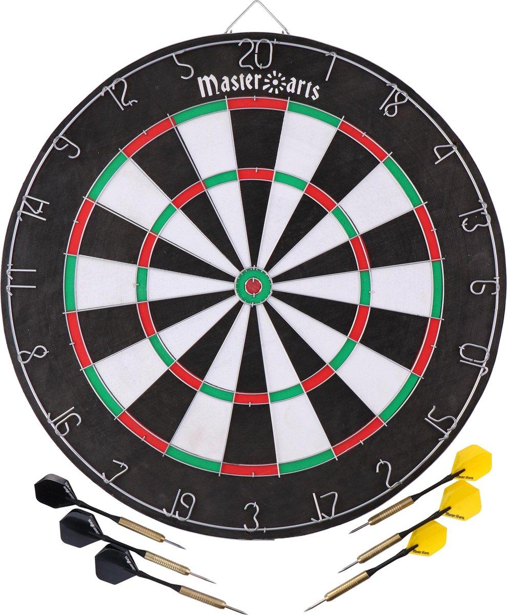 Master Darts Dartbord 45 Cm Met 6 Pijlen