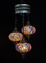 Hanglamp-multicolour-meerkleurig-glas-mozaïek-Turkse lamp-oosterse lamp-kroonluchter-Marokkaanse lamp