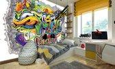 Fotobehang Vlies   Graffiti   Geel, Groen   368x254cm (bxh)