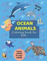 ocean animals coloring book for kids ages 3-6