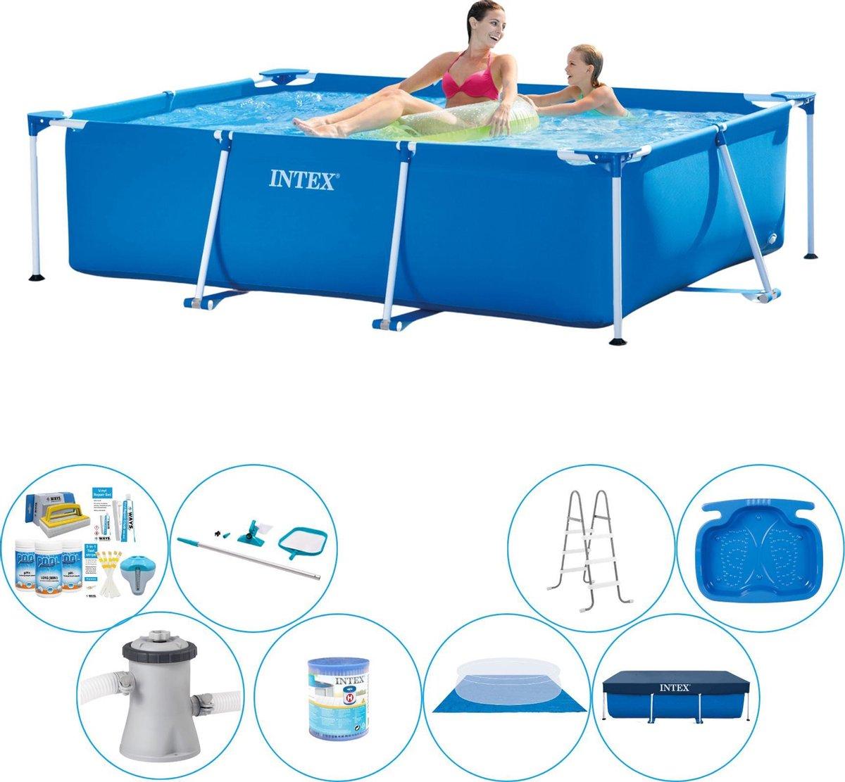 Intex Frame Pool Rechthoekig 220x150x60 cm - Zwembad Bundel