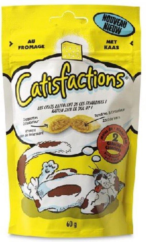 Catisfactions Kattensnoepjes 60 g - Kattensnack - 6 x Kaas