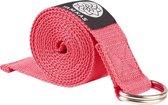 Yamkas Yogariem Katoen 183 x 3.8 cm - Yoga Stretch Strap Riem Roze