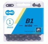 Ketting KMC B1 wide, 1/2 x 1/8  zwart, single speed.