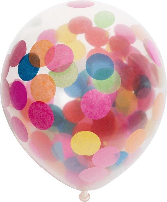 Ballonnen - Confetti - Bont - 30cm - 6st.