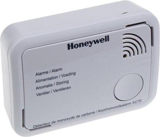 Honeywell XC70 Koolmonoxidemelder - 7 jaar accu - Geeft geluid én licht alarm - Meet zeer lage koolmonoxidewaarden
