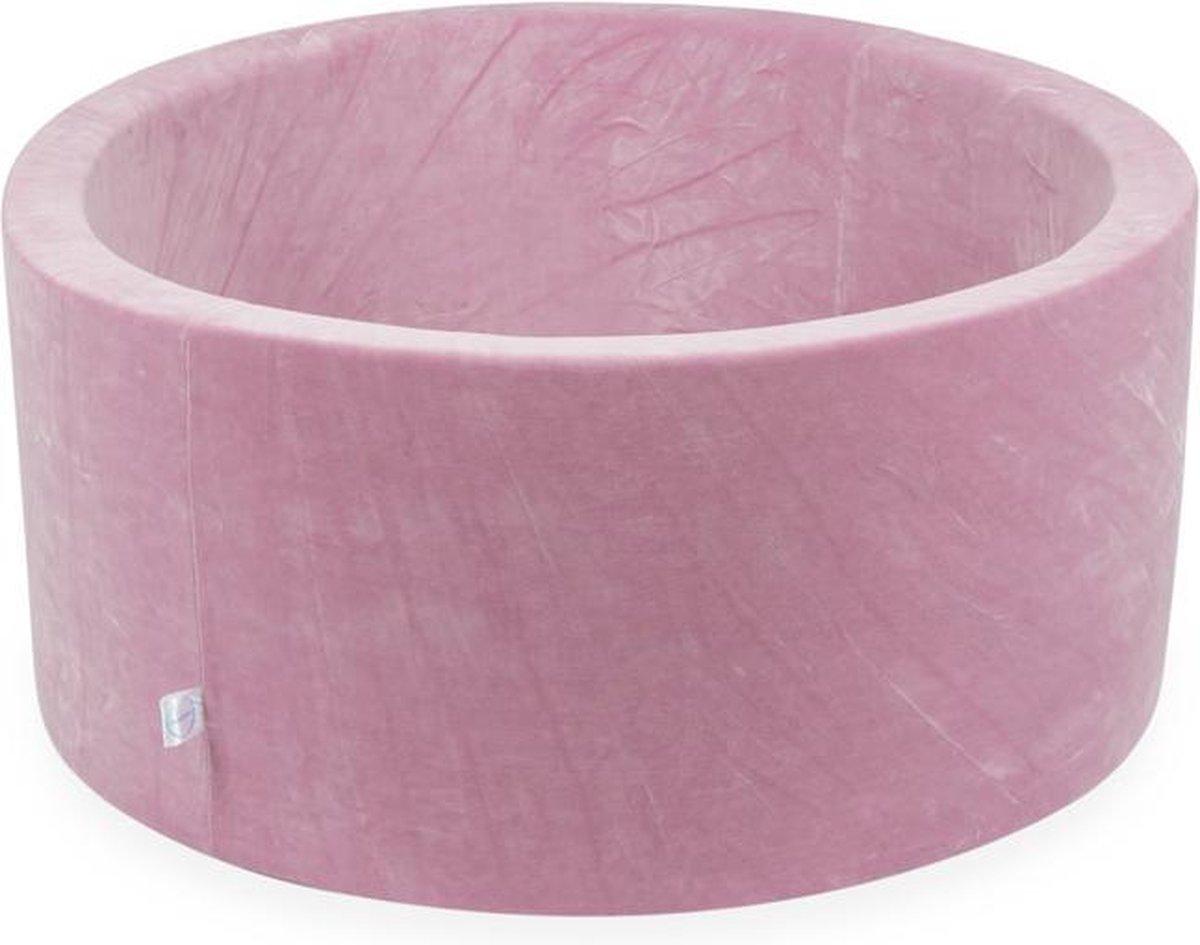 Ballenbak XL Rond 90x40 Soft Velvet Pink Moje