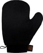 Sosu by SJ - Dripping Gold Black Velvet Mitt - Zelfbruiner handschoen